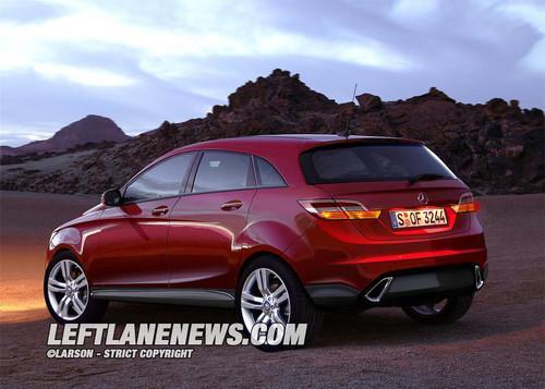 3 宝马X1 奔驰最小SUV效果图高清图片