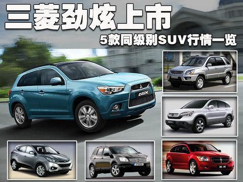 三菱劲炫上市 5款同级SUV行情一览高清图片