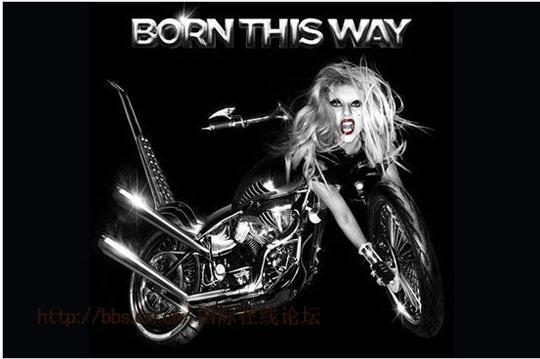 Lady  Gaga新专辑封面与摩托合二为一 造型抢眼被狂批(图)