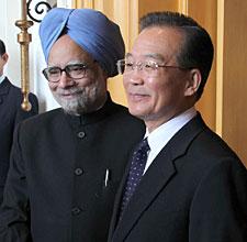 温家宝第十次会见印度总理辛格