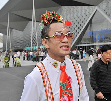 """""""酷哥""""参观上海世博园"""