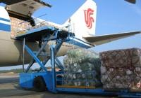 装满娃哈哈集团捐赠的抗击海啸救灾物资紧急运上飞机