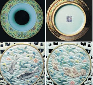 乾隆粉彩镂空瓷瓶拍出5.5亿人民币天价