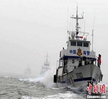 山东边防部队举行海上安保演练