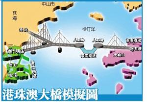 媒体称港珠澳大桥造价增至720亿 收费期或延长