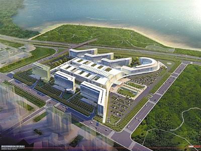 滨海医院全景模拟图.(图片来源:香港文汇报)-香港大学深圳联合