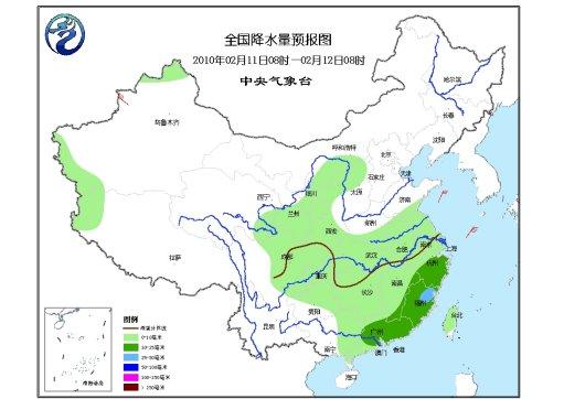 中国中东部将有明显降水西北华北黄淮将有暴雪