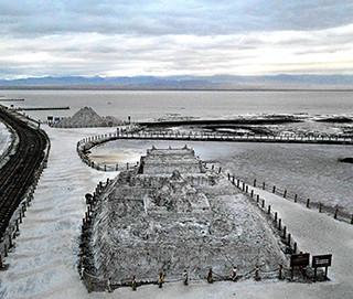 航拍九月的茶卡盐湖 天空之镜美妙绝伦