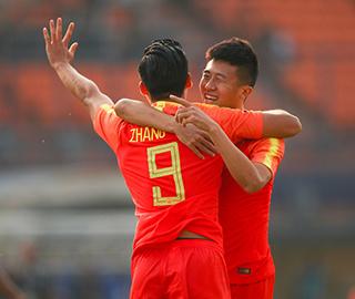 亚运会U23国足6:0大胜东帝汶