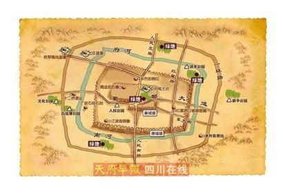 """成都现地下""""藏宝图"""" 主城区确有遗迹未发掘(图)图片"""