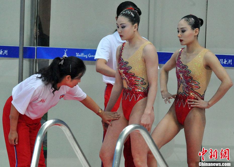 体育瞬间朝鲜美女组合神器凸显惊艳亚运会花