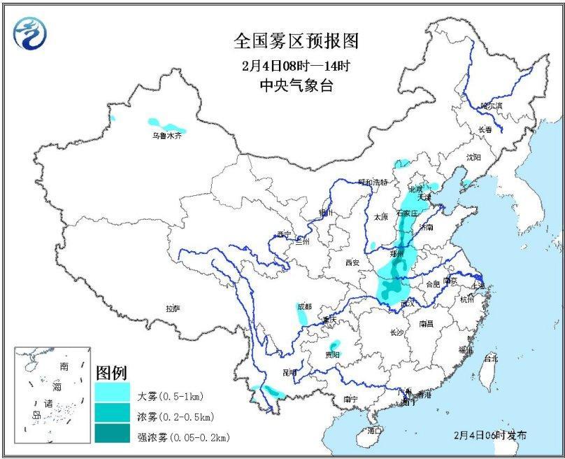 江南华南有小雨 中东部将现较大范围雨雪降温天气