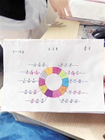 """96岁老人手绘""""小清新""""台历 给医护人员送新年福气"""