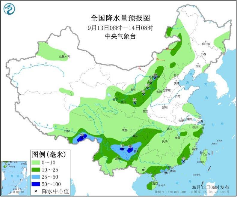 中央气象台:中国中东部大部地域将有明显降雨过程