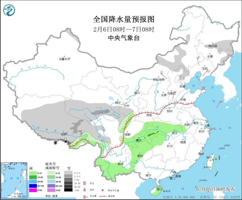 东北华北等地气温上升 江南华南等地将有明显降雨