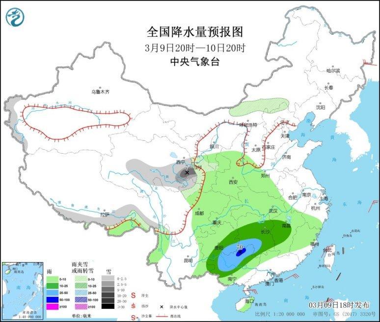 中东部地区先后有弱降水 京津冀等地有霾天气